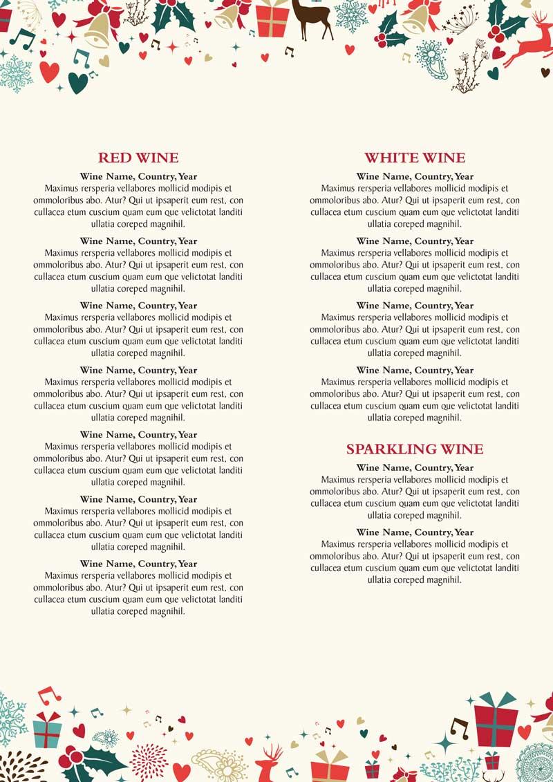christmas drinks menu artwork £120 hall and woodhouse christmas drinks menu template 2